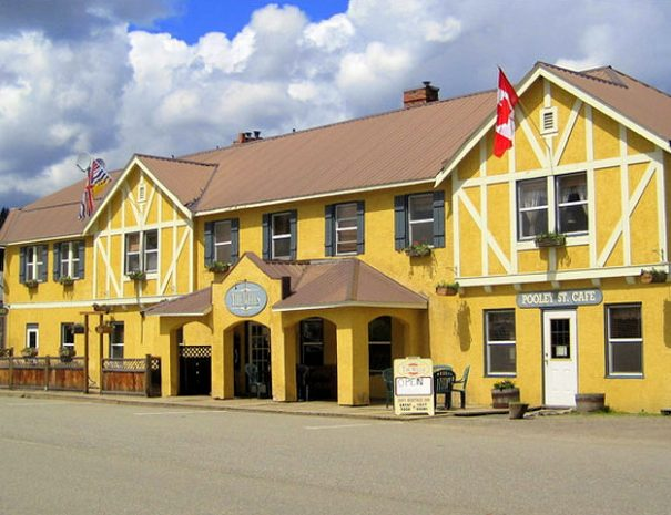 Exterior of The Wells Hotel, Wells, BC